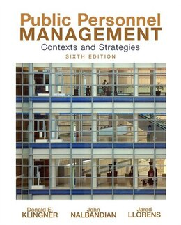 Book Public Personnel Management by Donald Klingner