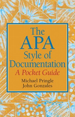 Book The APA Style of Documentation: A Pocket Guide by Mike Pringle