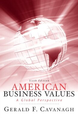 Book American Business Values by Gerald F Cavanagh