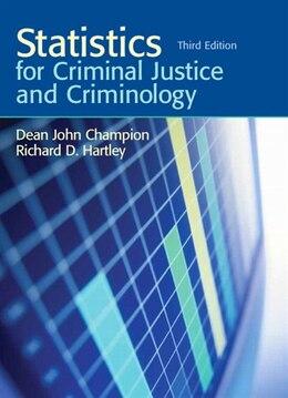 Book Statistics for Criminal Justice and Criminology by Dean J. Champion
