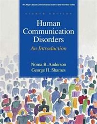 Book Human Communication Disorders: An Introduction by Noma B. Anderson