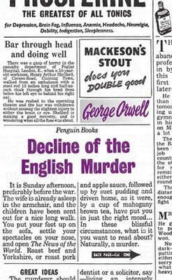 Book Great Ideas Decline Of The English Murder by George Orwell