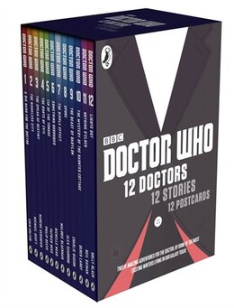 Book Doctor Who 12 Doctors 12 Stories 12 Book 12 Postcard Gift Set by Bbc Bbc