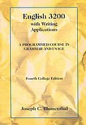 Book English 3200 With Writing Applications: A Programmed Course In Grammar And Usage by Joseph C. Blumenthal