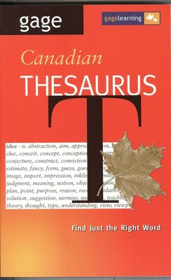 Book Gage Canadian Thesaurus by T. K. Pratt