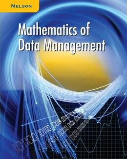 Book Nelson Mathematics of Data Management: Student Text by David Zimmer
