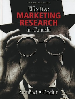 Book Effective Marketing Research In Canada by William G. Zikmund
