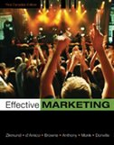 Book Effective Marketing by William G Zikmund