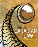 Book Canadian Law: An Introduction: An Introduction by Neil Boyd