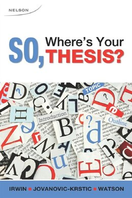 Book So, Where's Your Thesis? by Viktoria Jovanovic-krstic