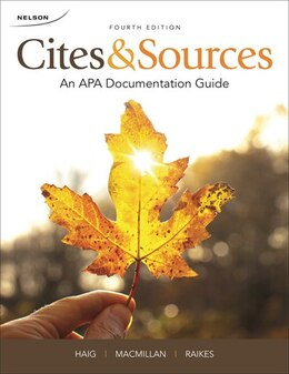 Book Cites And Sources: An Apa Documentation Guide by Jane Haig