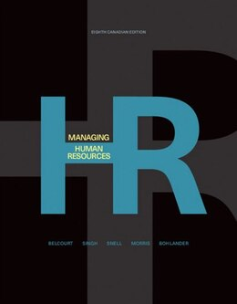 Book Managing Human Resources by Monica Belcourt