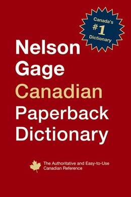 Book Nelson Gage Canadian Paperback Dictionary by Nelson Gage