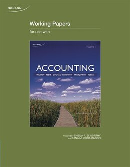 Book Working Papers For Accounting, Volume 1 by Carl S. Warren