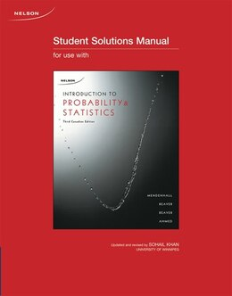 Book Student Solutions Manual For Introduction To Probability And Statistics, 3ce by William Mendenhall