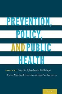Book Prevention, Policy, and Public Health by Sarah Moreland-Russell