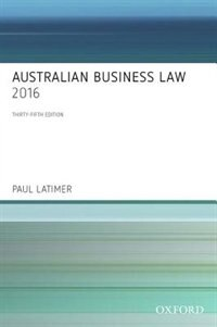 Book Australian Business Law 2016 by Paul Latimer