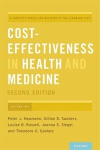 Book Cost-Effectiveness in Health and Medicine by Peter J. Neumann