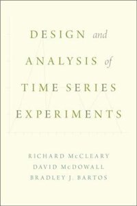 Book Design and Analysis of Time Series Experiments by Richard Mccleary