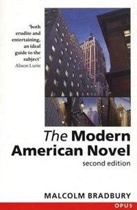 Book The Modern American Novel by Malcolm Bradbury