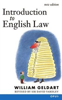 Book Introduction to English Law by William Geldart