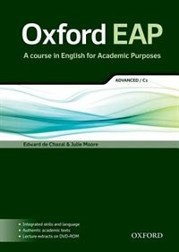 Book Oxford EAP: Advanced/C1 Students Book with DVD-ROM by Edward de Chazal