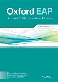Book Oxford EAP: Pre-Intermediate/B1 Students Book and DVD-ROM Pack by Paul Dummett