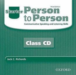 Book Person to Person, Third Edition: Starter Class Audio CDs (2) by Jack Richards