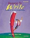 Book Reason To Write: High Beginning by Judy L Miller