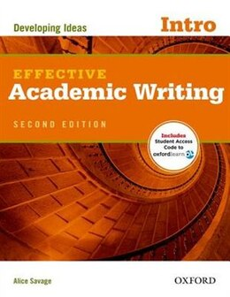Book Effective Academic Writing: Intro Student Book Pack by Alice Savage