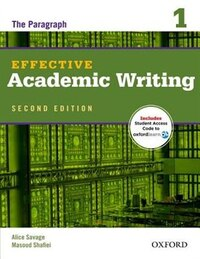 Effective Academic Writing: Level 1 Student Book Pack: The Paragraph