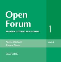 Open Forum: Level 1 Academic Listening and Speaking Audio CDs (3)