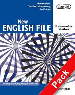 Book New English File: Pre-Intermediate Workbook with Answer Booklet and MultiROM Pack by Clive Oxenden