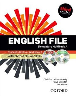 Book English File: Elementary MultiPACK A with iTutor and Online Skills by Christina Latham-Koenig