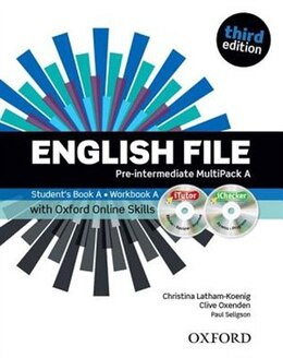 Book English File: Pre-Intermediate MultiPACK A with iTutor and Online Skills by Christina Latham-Koenig
