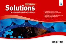 Book Solutions: Pre-Intermediate Online Workbook - Card with Access Code by Oxford