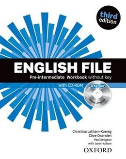 Book English File: Pre-Intermediate Workbook without key and iChecker by Christina Latham-Koenig