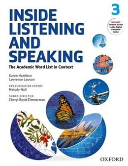 Book Inside Listening and Speaking: Level Three Student Book: The Academic Word List in Context by Karen Hamilton