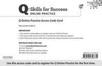 Q Skills for Success: Online Practice Student Access Code Card