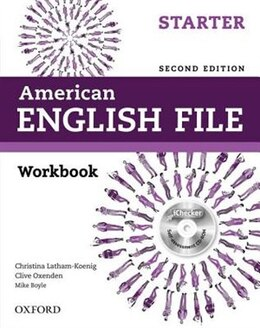 Book American English File: Starter Workbook with iChecker by Christina Latham-Koenig