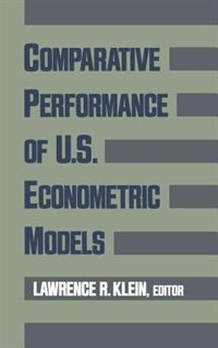 Book Comparative Performance of U.S. Econometric Models by Lawrence R. Klein