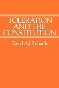 Book Toleration and the Constitution by David A. J. Richards