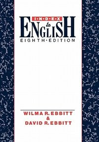 Book Index to English by Wilma R. Ebbitt