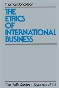 Book The Ethics of International Business by Thomas Donaldson
