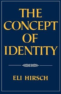 Book The Concept of Identity by Eli Hirsch