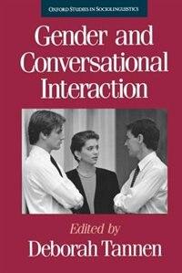 Book Gender and Conversational Interaction by Deborah Tannen