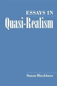Book Essays in Quasi-Realism by Simon Blackburn