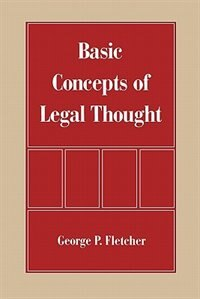 Book Basic Concepts of Legal Thought by George P. Fletcher