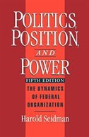 Book Politics, Position, and Power: The Dynamics of Federal Organization by Harold Seidman