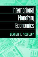 Book International Monetary Economics by Bennett T. McCallum